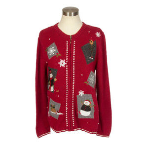 Croft & Barrow Ugly Christmas Sweater Cardigan